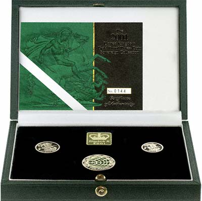 2001 British Gold 3 Coin Proof Set in Presentation Box