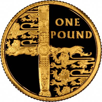 Reverse of 2002 Alderney Gold Proof One Pound