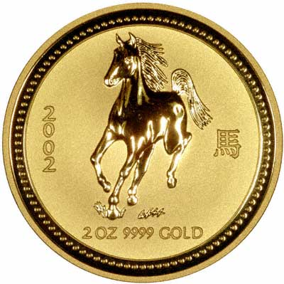 2002 Year of the Horse Australian Two Ounce Gold Coin
