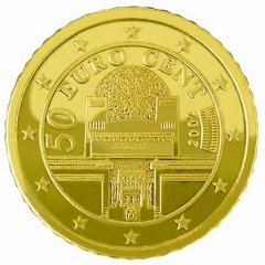 2002 Austrian Euro 50 Cent in Nordic Gold