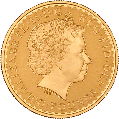 Obverse of 2002 Gold Proof Britannia