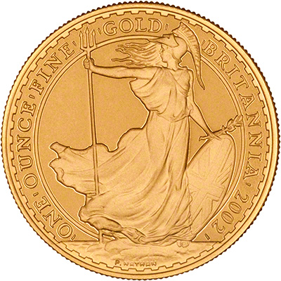 Reverse of One Ounce Gold Proof Britannia