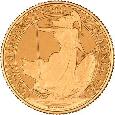 Reverse of 2002 Gold Proof Britannia