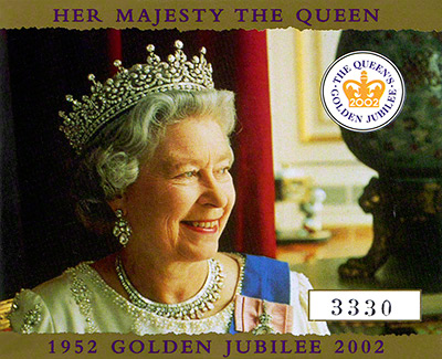 2002 Golden Jubilee Gold Proof Crown Certificate of Authenticity