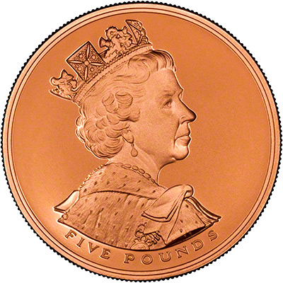 Obverse of 2002 Golden Jubilee Gold Crown