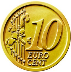 Common Reverse of 2002 Euro 10 Cent in Nordic Gold