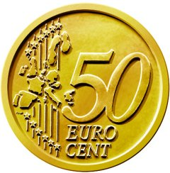 Common Reverse of 2002 Euro 50 Cent in Nordic Gold