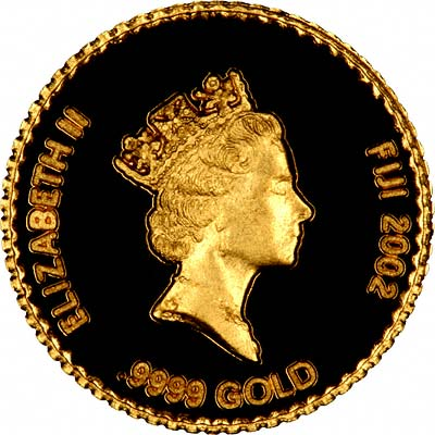 Obverse of 2002 Fiji .9999 Fine Gold 5 Dollars