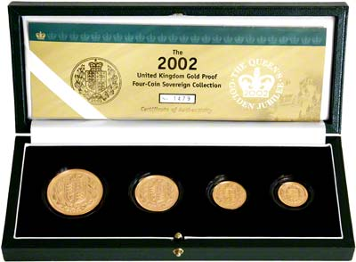 2002 Four Coin Sovereign Set in Presentation Box