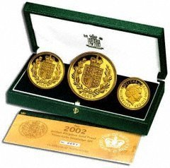 Three Coin 2002 Gold Proof Set