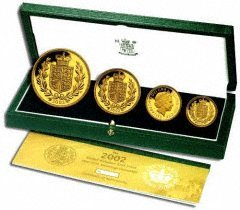 Four Coin 2002 Gold Proof Set