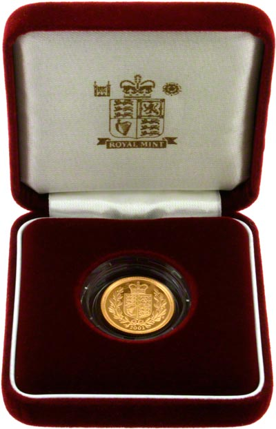 2002 Proof Half Sovereign in Presentation Box