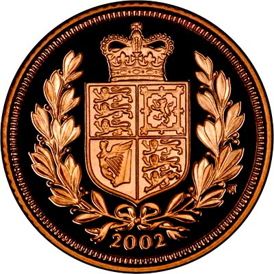 Shield Reverse on the 2002 Golden Jubilee Half Sovereign