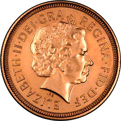 Obverse of 2002 Uncirculated Half Sovereign