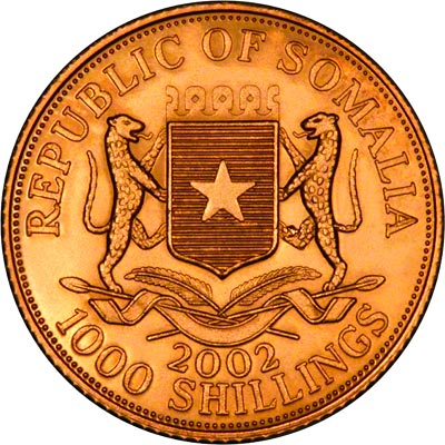 Reverse of 2002 Somalian 1000 Shillings
