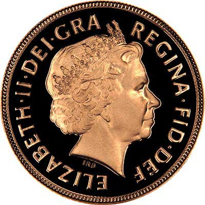 Obverse of 2002 Proof Sovereign