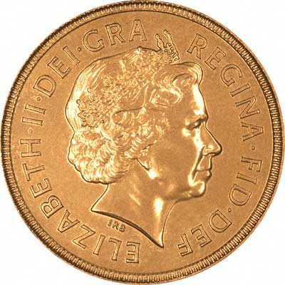 Obverse of 2002 Uncirculated Sovereign