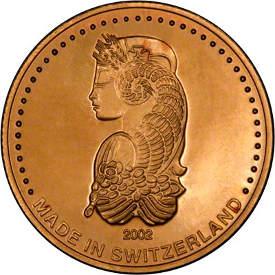Obverse of Swiss Guinea Gold Medallion