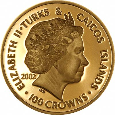 Obverse of 2002 Golden Jubilee 100 Crowns
