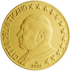 2002 Vatican Euro 50 Cent in Nordic Gold