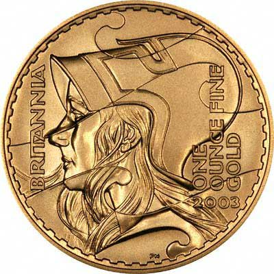 Reverse of 2003 Gold Proof Britannia