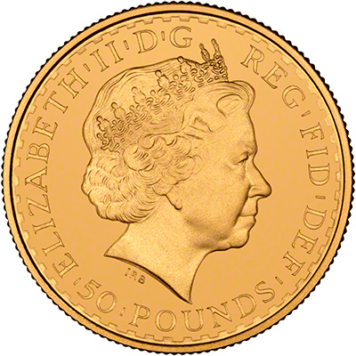 Obverse Design on 2003 Gold Britannia