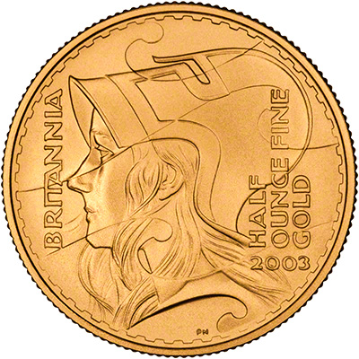 New Reverse Design on 2003 Gold Britannia