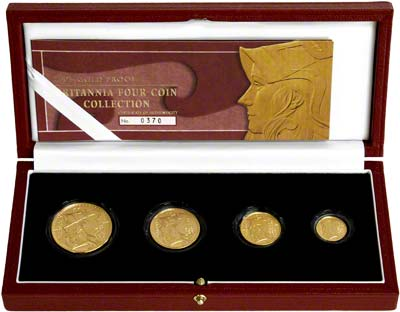 2003 Four Coin Britannia Proof Set