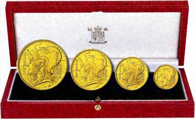 Four Coin Britannia Proof Set