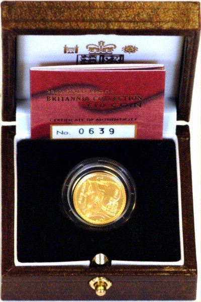 Tenth Ounce Gold Britannia Proof in Box