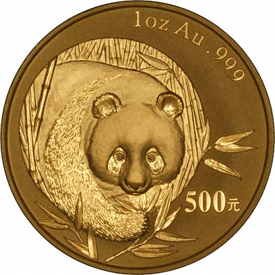 Reverse of 2003 One Ounce Gold Panda