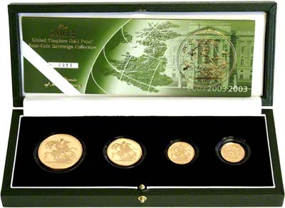 2003 Four Coin Sovereign Set in Presentation Box