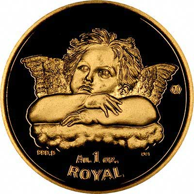 Reverse of 2003 Gibraltar One Ounce Gold Royal Coin