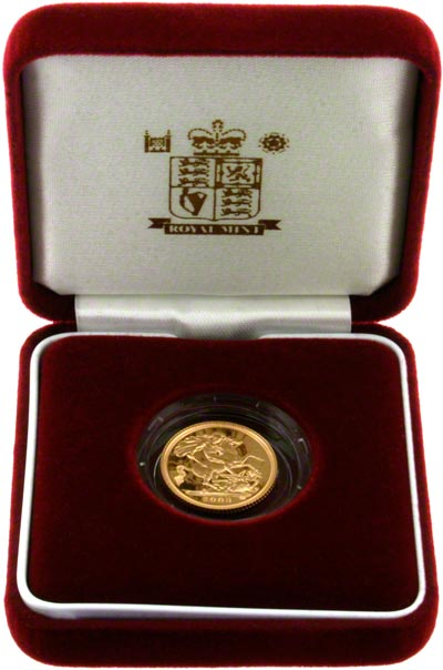 2003 Proof Half Sovereign in Presentation Box