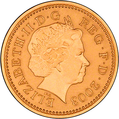 Obverse of 2003 Gold Proof £1 Coin