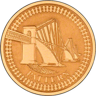 Forth Railway Bridge on Reverse of 2004 Proof Gold One Pound Coin