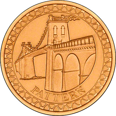 Menai Straits Bridge on Reverse of 2005 Gold Proof £1 Coin