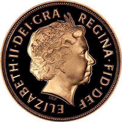 Obverse of 2003 Proof Sovereign