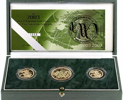 2003 Gold 3 Coin Proof Sovereign Set