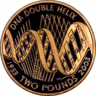 Reverse of 2003 Marconi £2 Proof