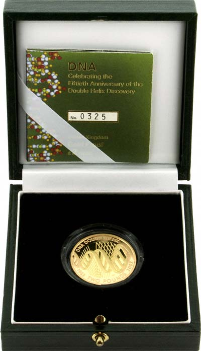 2003 DNA Proof £2 Gold Coin in Box