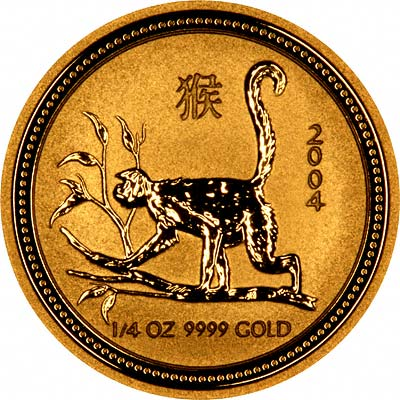 Reverse Design of a Year 2004 Australian One Ounce Gold Kangaroo Nugget Coin