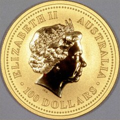 Obverse of 2007 Australian One Ounce Gold Coin