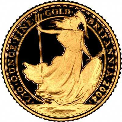 Reverse of 2000 Tenth Ounce Gold Britannia