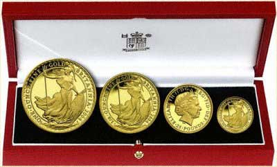 2004 Britannia 4 Coin Gold Proof Set