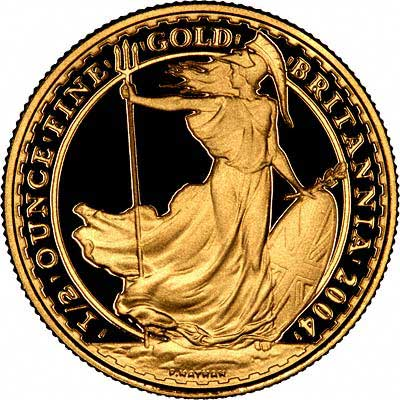 Reverse of 2004 Half Ounce Gold Britannia