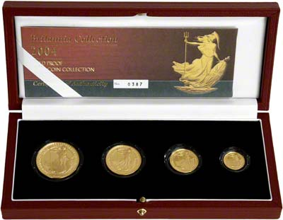 2004 Four Coin Britannia Proof Set