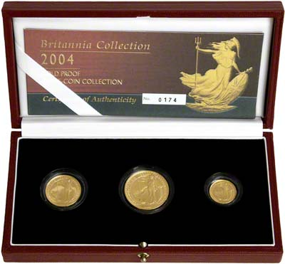 2004 Three Coin Britannia Proof Set