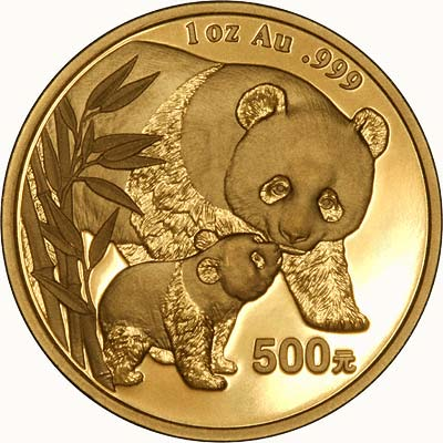 Reverse of 2004 One Ounce Gold Panda