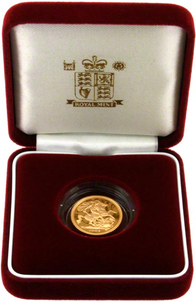 2004 Proof Half Sovereign in Presentation Box